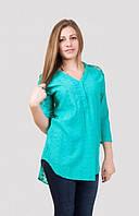 Женская летняя удлиненная блуза