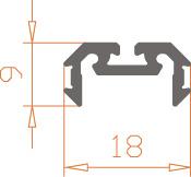 Алюминиевый светодиодный профиль Z200  / AS