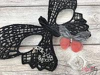 На леске чокер 19465 бабочка с двумя камнями женские украшение на шею