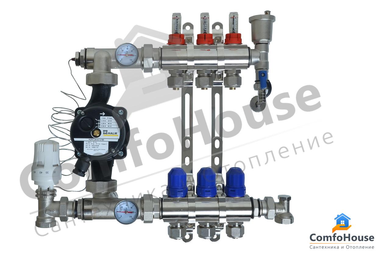 Коллектор 3 контура для системы теплого пола CLM Therm