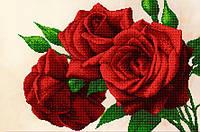"""Схема для вышивки бисером на атласе (цветы) """"Королевские розы"""" Серия Элит"""