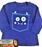 Детская футболка с длинным рукавом Реглан Джемпер Водолазка мишка Глория Джинс 6-12 мес.