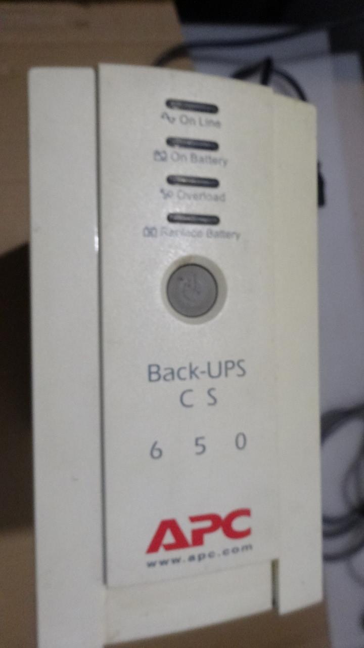 Источник бесперебойного питания ИБП APC Back-UPS CS 650 BA