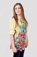 Женская летняя блуза в красивый модный принт