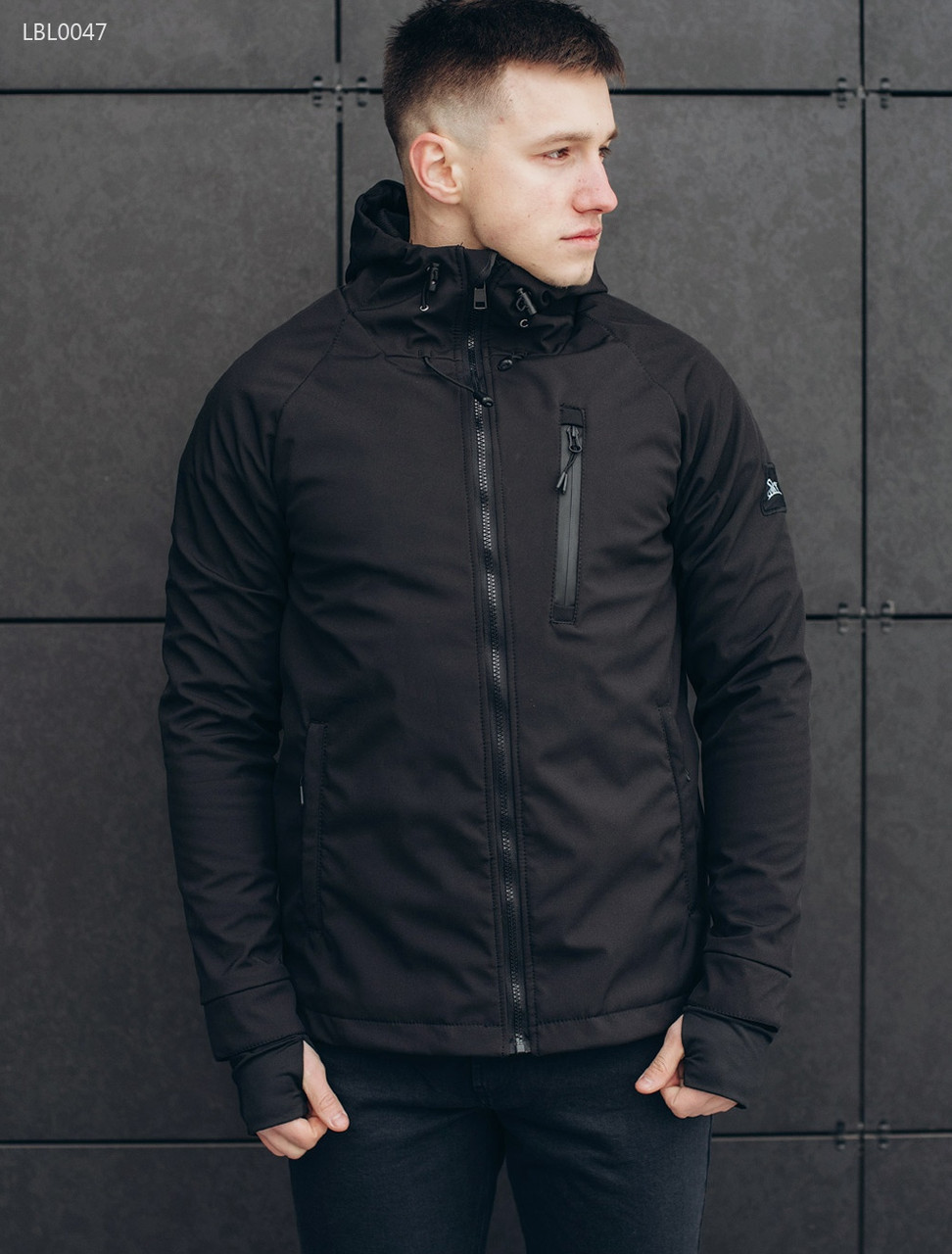 Весенне-осенняя куртка Staff - Soft shell Solar black Art. LBL0047 (Размеры  - XS d32bfa8f2face