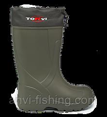 Сапоги для зимней рыбалки и охоты TORVI -45°C Размер 42 (Черный)