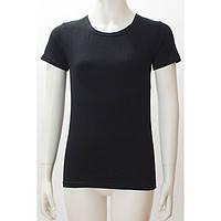 Топ футболка Фокс (корот.рукав) 40р. хлопок-92% лайкра 8% черный