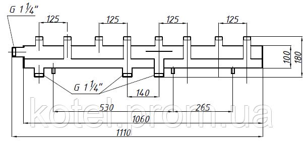 Схема коллектора СК 492.125 на 5 контуров