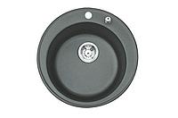 """BS Кухонна мийка врізна-гранітна-кругла Blac-Stone """"BS"""" Grandee  (8 кольорів) Коричневий"""