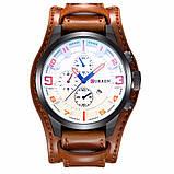 Часы мужские Curren Aviator brown-white, фото 2