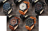 Часы мужские Curren Aviator brown-white, фото 4
