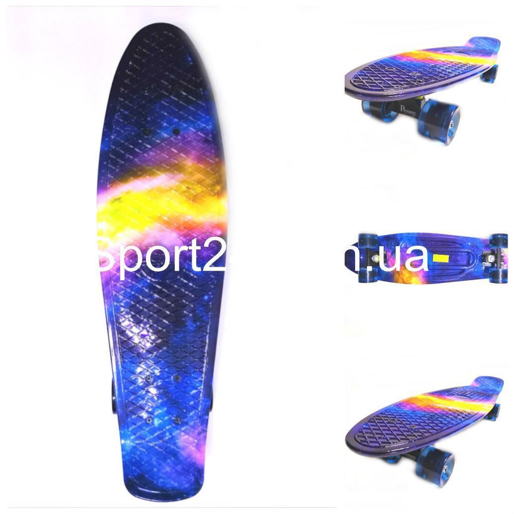 Пенни борд Никель 27 Звездное небо светящиеся колеса