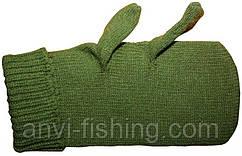 Варежки стерелковые зеленые