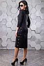 Женское повседневное платье, размеры от 44 до 50, чёрное с принтом, молодёжное, классическое, элегантное, фото 6