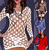 Еротична білизна. Еротичне плаття - сітка Livia Corsetti 2 (54 розмір, розмір XL )