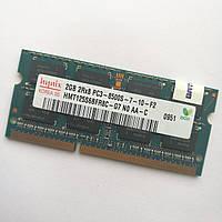 Оперативная память для ноутбука Hynix SODIMM DDR3 2Gb 1066MHz 8500s 2R8 PC3 CL7 (HMT125S6BFR8C-G7 N0 AA-C) Б/У, фото 1
