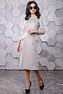 Платье под замш серое в полоску молодёжное классическое элегантное, фото 3