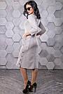 Платье под замш серое в полоску молодёжное классическое элегантное, фото 6