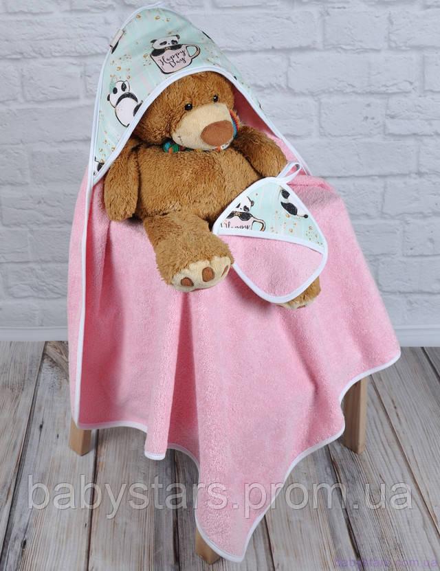 полотенце с капюшоном для новорожденных