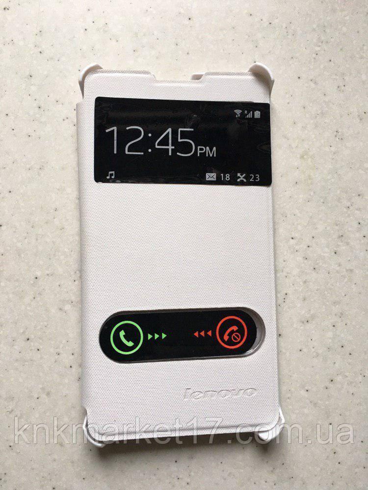 Чехол-книжка для Lenovo Р780 Белый