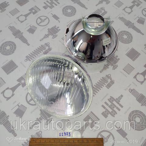 Элемент оптический ВАЗ УАЗ (лампа Н4) дальний и ближний свет (WASSA Украина) (144x93,5мм) (ФГ140-3711200)