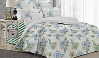 Постельное белье, евро  комплект, хлопковое постельное белье, ткань  Ранфорс, Романс