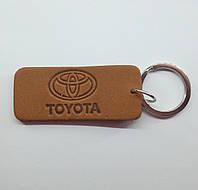 Кожаный брелок / Марки авто / Toyota, фото 1