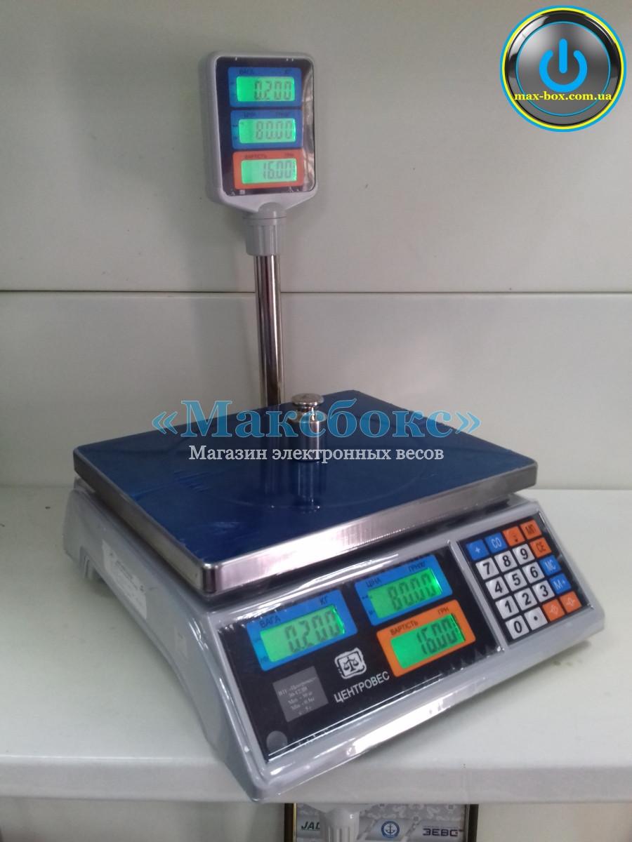 Весы торговые с поверкой 15 кг ВТЕ 15Т2-ДВ-ЖК