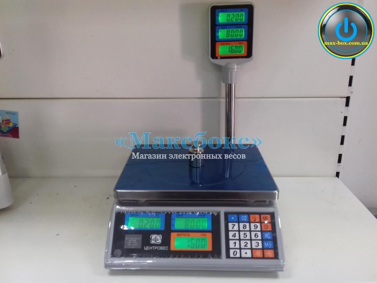 Торговые весы с поверкой 30 кг ВТЕ-30Т2-ДВ-ЖК