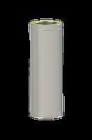 Труба-сэндвич для дымохода 110/180 мм; 0.8 мм; 1 метр; из нержавейка/нержавейка AISI 321