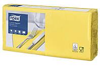 Салфетки 33x33 бумажные желтые Tork 477841