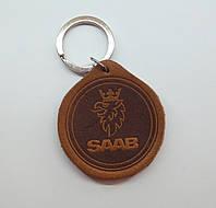 Кожаный брелок / Марки авто / Saab, фото 1