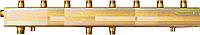 Распределительный одноблочный коллектор СК 592.125 на 6 контуров