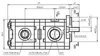 Шестеренный насос для John Deere AH129390 Hydrosila