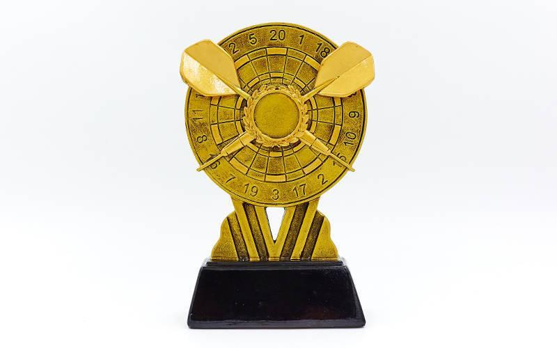 Статуэтка (фигурка) наградная спортивная Дартс C-1856-B (р.17,5х11х4 см)