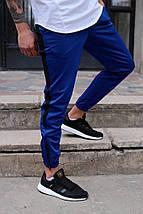 Штаны спортивные Rocky (Рокки) синие с чёрной вставкой, фото 2