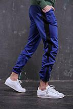 Штаны спортивные Rocky (Рокки) синие с чёрной вставкой, фото 3