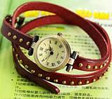 Винтажные часы браслет JQ retro red, фото 2