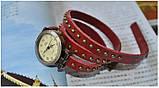 Винтажные часы браслет JQ retro red, фото 3