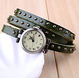 Вінтажні годинник браслет JQ retro green, фото 2