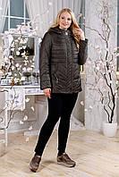 Куртка женская весенняя хаки большие размеры