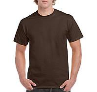 Футболкa шоколадная плотная Heavy Cotton, Gildan, Канада 100% коттон, плотность 180 г/м2