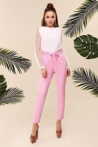 Женские брюки с завышенной талией Розовый