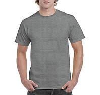 Футболкa серая плотная Heavy Cotton, Gildan, Канада 100% коттон, плотность 180 г/м2