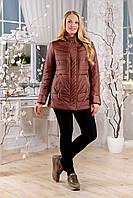 Куртка женская коричневая весна большие размеры