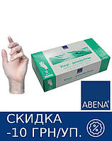 Перчатки виниловые неопудренные ABENA Classic (прозрачные) 10 УП (1000 шт.) XL