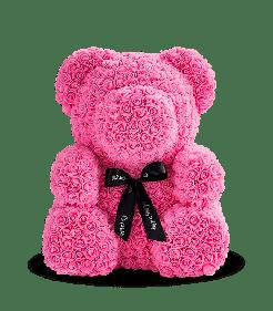 Мишка из 3D роз 30 см в красивой подарочной упаковке - лучший подарок девушке на любой праздник