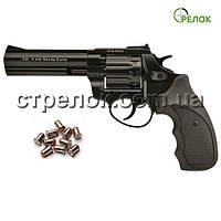 Револьвер под патрон Флобера Stalker 4.5 Black, черная рукоять