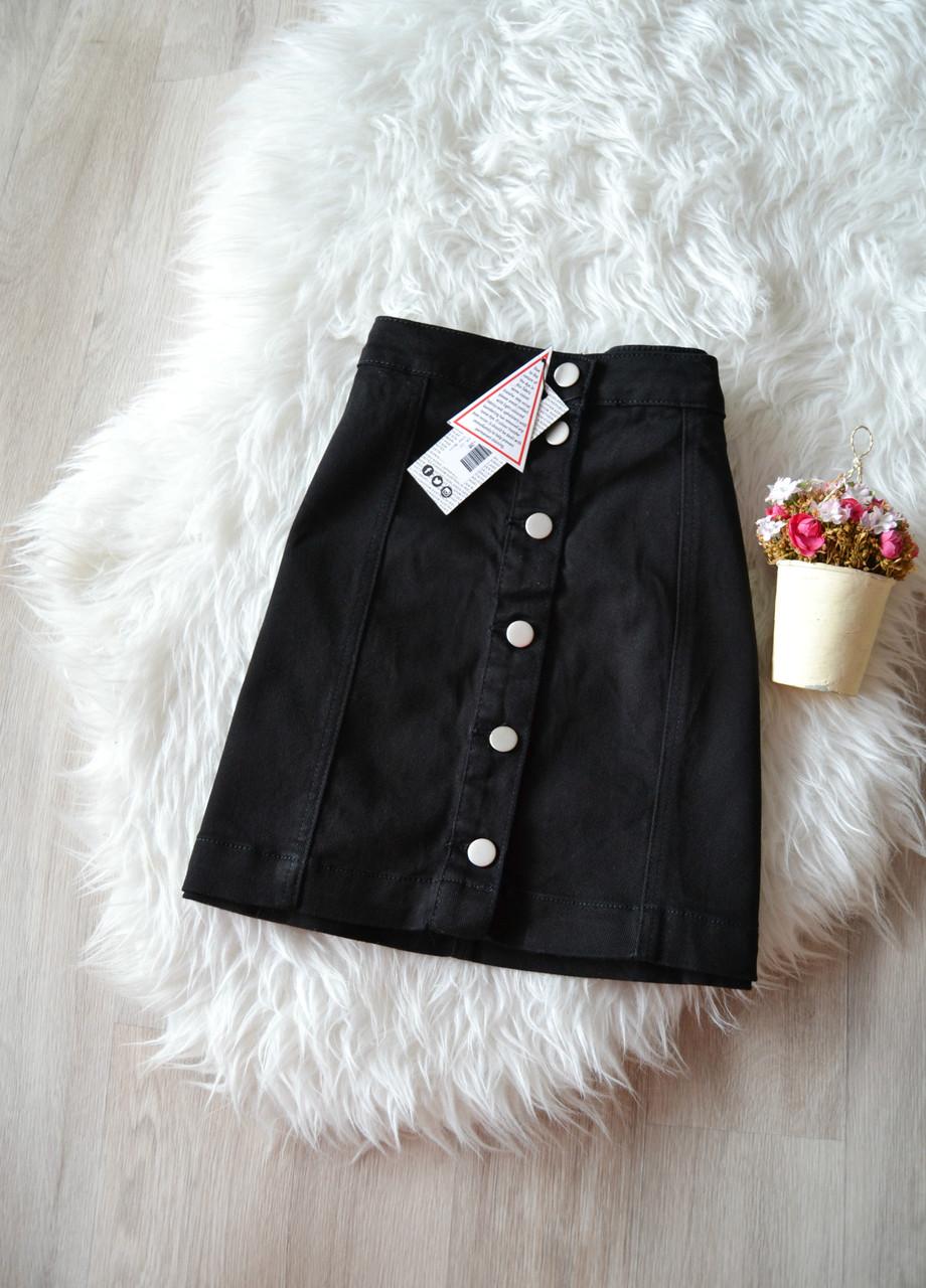 4898a6134c1 Новая джинсовая юбка-трапеция с пуговичками Boohoo  продажа