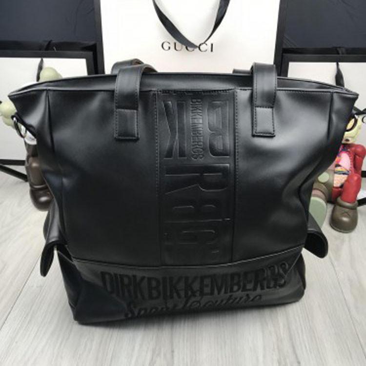 672dc9b59957 Кожаная женская дорожная сумка Bikkembergs черная натуральная кожа унисекс  Биккембергс премиум реплика
